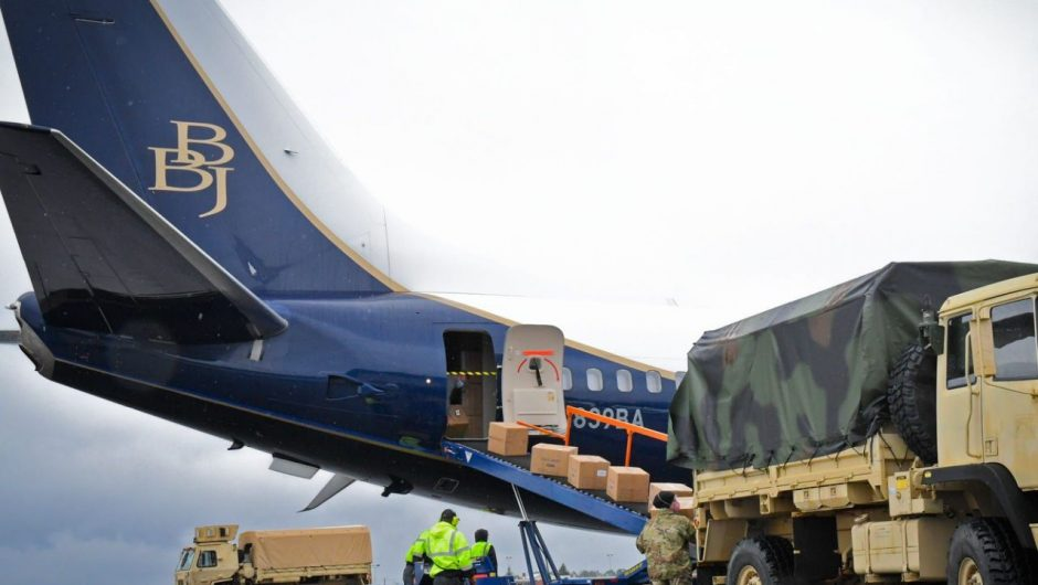 Boeing just flew its first COVID-19 airlift mission with a huge private jet instead of the massive oversized cargo plane Trump touted