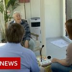 Coronavirus: Dutch care home reunites families in a glass pod – BBC News