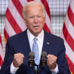 Joe Biden blanks during remarks about coronavirus death toll