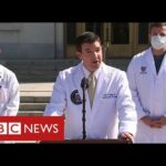 """Trump's doctors confirm """"dips"""" in oxygen levels but say he is improving – BBC News"""