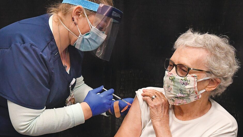 Coronavirus cases are falling in the US but experts say it's not from the COVID vaccine, yet