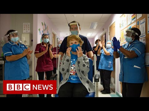 Woman, 90, first to receive Covid vaccine in UK rollout – BBC News