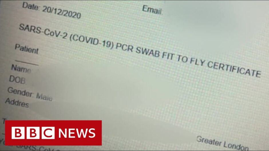 Fake Covid-19 test certificates sold by criminals, Europol says – BBC News