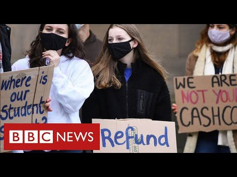 """University students protest across UK over """"lack of support"""" during pandemic – BBC News"""