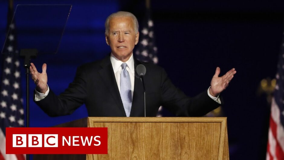 US election: Joe Biden vows to 'unify' country in victory speech – BBC News