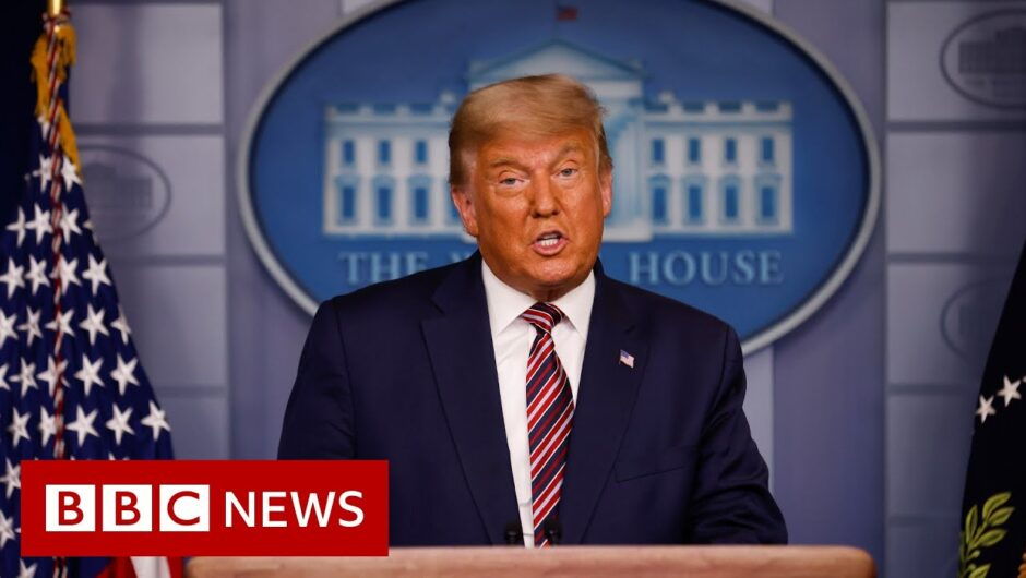 US Election 2020: Trump claims 'historic election interference' – BBC News