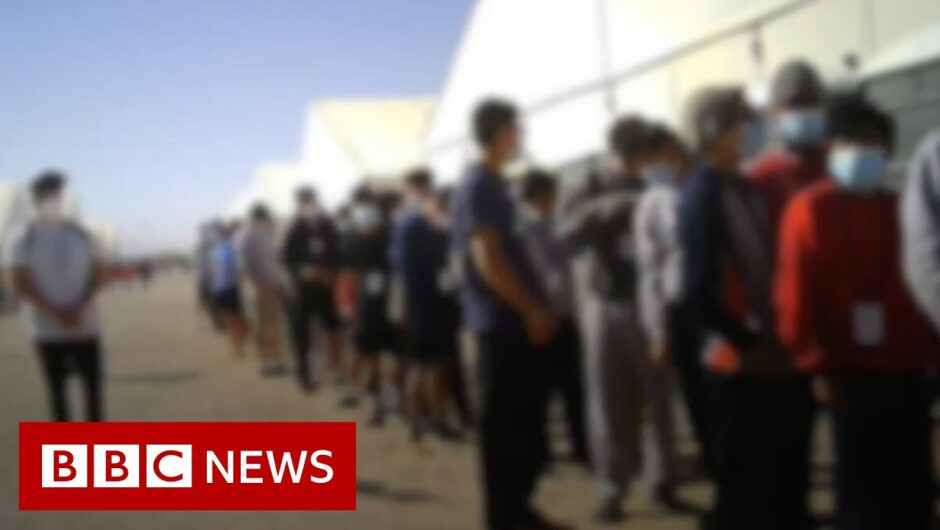 Children detained in disease-ridden conditions in US migrant camp – BBC News