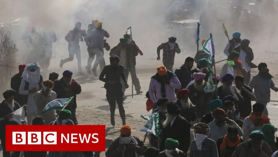 Farmers protest: Indian farmers clash with police – BBC News