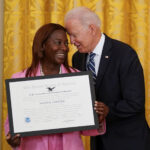 Biden honors Queens nurse who got nation's first COVID-19 vaccine