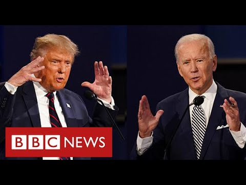 Bitter divisions in final debate as US polling day approaches – BBC News